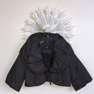 Winter 3/4 sleeve brown crop jacket EUC
